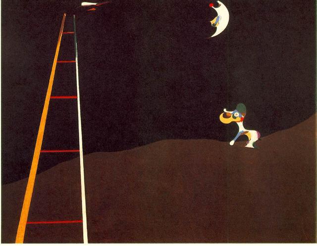 cane che abbaia alla luna, Mirò